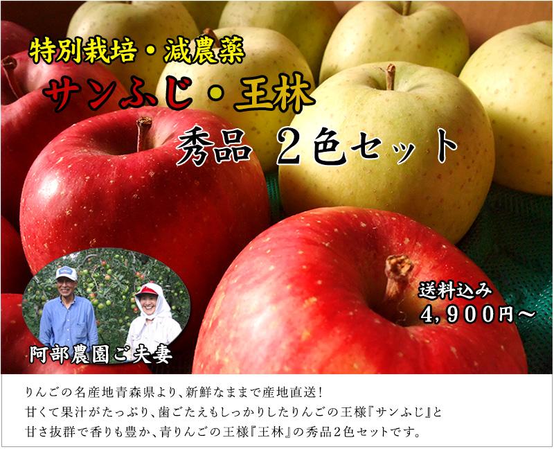 青森県産 サンふじ・王林 秀品2色セット